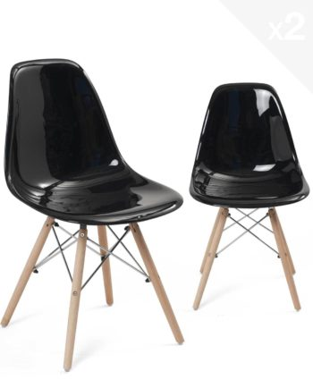 chaise-scandinave-design-lot-2-noir-brillant-neo