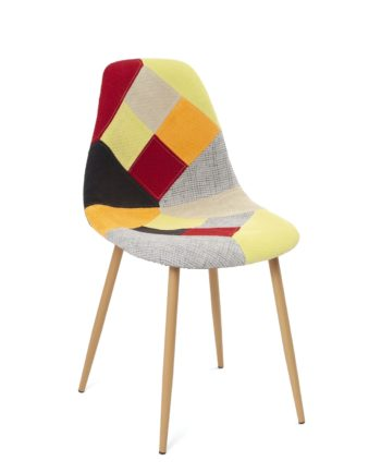 chaise-scandinave-design-patchwork-agrume