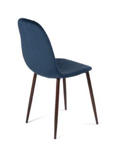 chaise-scandinave-velours-bleu-fonce-pas-cher-lot-2-kayelles