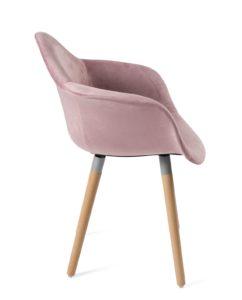fauteuil-design-pas-cher-velours-rose-lot-2-kayelles