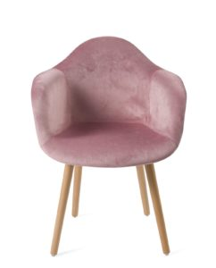 fauteuil-design-scandinave-velours-rose-lot-2-kayelles
