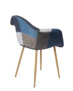 fauteuil-patchwork-tissu-bleu-gris-kayelles