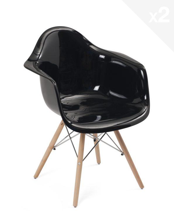fauteuil-scandinave-lot-2-eames-noir-brillant-kayelles