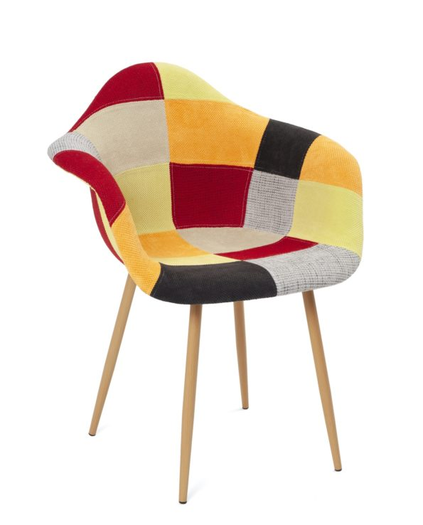 fauteuil-scandinave-patchwork-agrume-novo