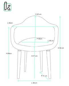 fauteuil-scandinave-velours-lot-2-kayelles