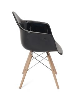 lot-2-chaises-accoudoirs-scandinave-eames-noir-brillant