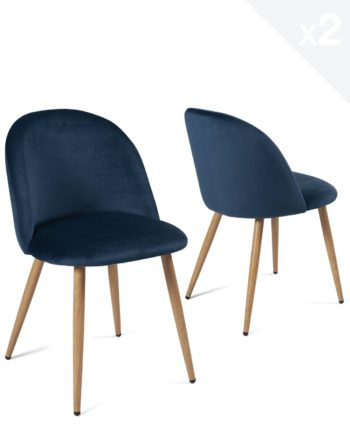 lot-2-chaises-cocktail-velours-bleu-fonce-scandinave-vintage