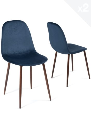 lot-2-chaises-design-scandinave-velours-metal-bleu-fonce