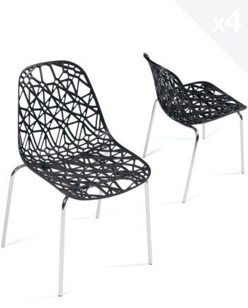 lot-4-chaises-cuisine-design-dentelle-pas-cher-noir-kayelles