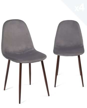 lot-4-chaises-design-velours-scandinave-metal-gris-fonce