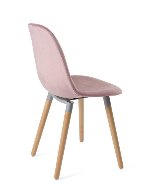 lot-4-chaises-scandinaves-bois-velours-design-rose