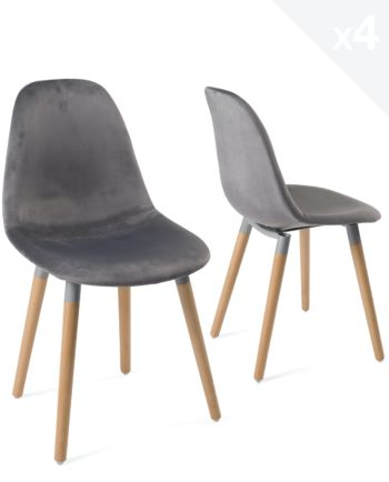 lot-4-chaises-scandinaves-bois-velours-gris