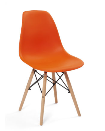 chaise-scandinave-eames-orange-bois-design-kayelles