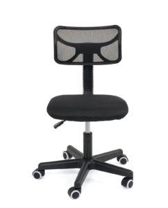 chaise-bureau-ado-enfant-junior-pas-cher-noir