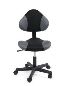 chaise-bureau-junior-roulette-design-noir-gris-tik