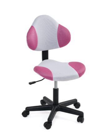 chaise-bureau-junior-roulette-ergonomique-blanc-rose-kayelles