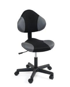 chaise-bureau-junior-roulette-ergonomique-noir-gris-kayelles