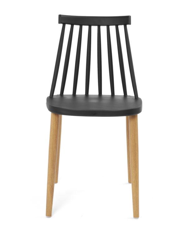 chaise-cuisine-design-barreaux-vintage-faux-bois-noir-kayelles