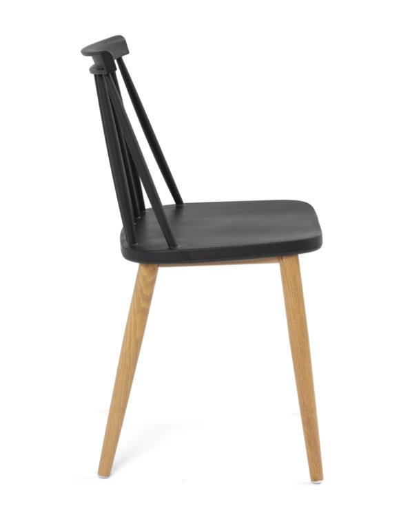 chaise-cuisine-pas-cher-lot-2-barreaux-vintage-noir-metal-bois-kayelles