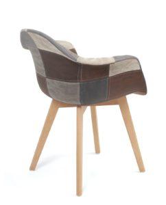 chaise-patchwork-scandinvave-restaurant-gris-bleu-kayelles