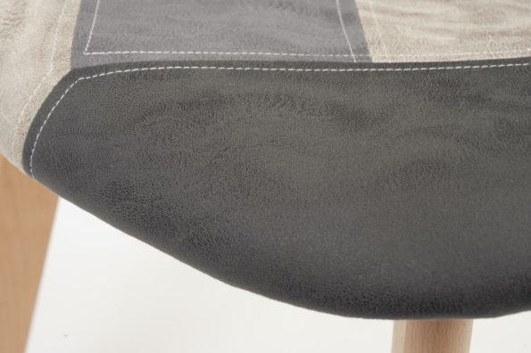 chaise-patchwork-similicuir-design-scandinave-kayelles-gris-bleu