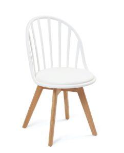 chaise-scandinave-barreaux-coussin-blanc-kayelles