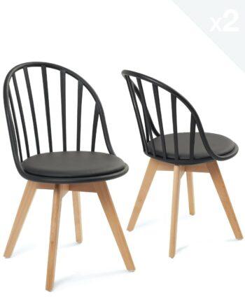 lot-2-chaises-scandinaves-barreaux-coussin-noir-kayelles