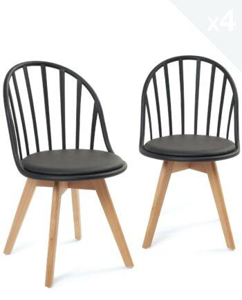 lot-4-chaises-design-scandinaves-barreaux-coussin-noir-kayelles