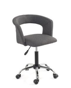 chaise-fauteuil-bureau-roulettes-accoudoirs-réglable-tissu-gris