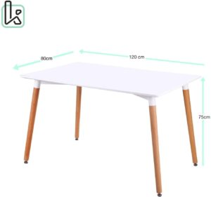 table cuisine scandinave 120 80