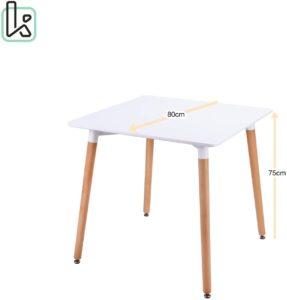 table scandinave carrée 80 x 80
