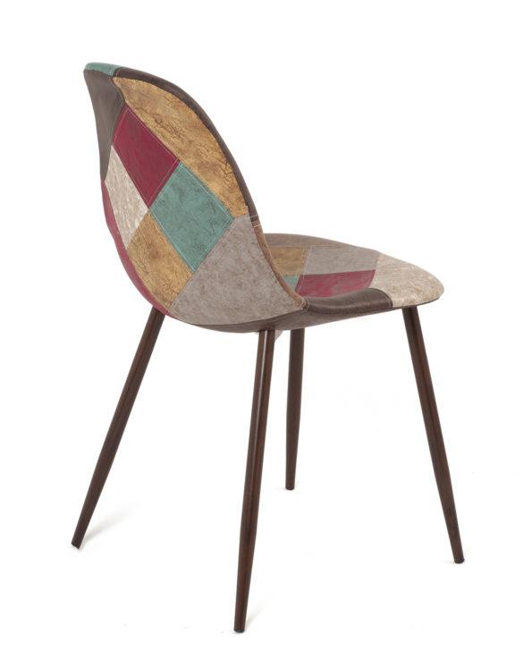 chaise-salle-manger-patchwork-pas-cher-marron-NOVA