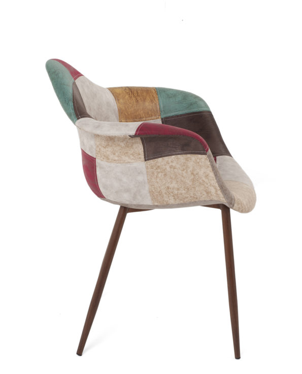 fauteuil-patchwork-tissu-simili-cuir-kayelles