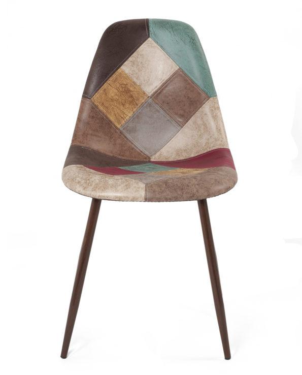lot-2-chaises-patchwork-marron-scandinave-cuisine-salle-manger-NOVA