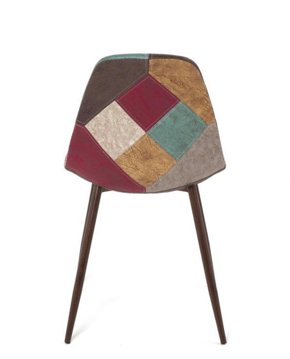 lot-2-chaises-patchwork-marron-scandinave-cuisine-salon-NOVA