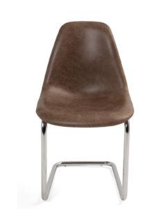 chaise-salle-manger-cuisine-marron-chrome-design-lot-2-meo