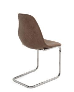 lot-2-chaises-design-salle-manger-marron-chrome-kayelles-meo