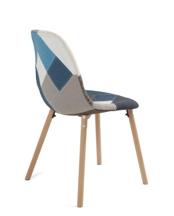 chaise-scandinave-pas-cher-patchwork-bleu-kayelles