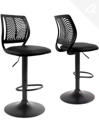 chaises-bar-haut-dossier-reglable-design-sawa-noir
