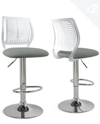 chaises-bar-hautes-dossier-reglable-design-cuisine-blanc-gris