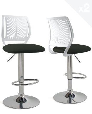 chaises-bar-hautes-dossier-reglable-design-cuisine-blanc-noir