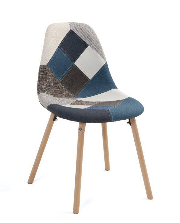 chaises-patchwork-bleu-style-scandinave-kayelles-salle-manger