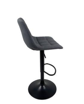 lot-2-chaises-bar-design-sid-noir-tissu-matelasse-bleu