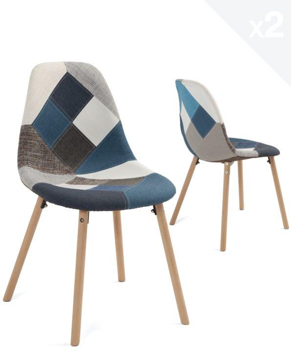 lot-2-chaises-patchwork-bleu-scandinave-salon-kayelles