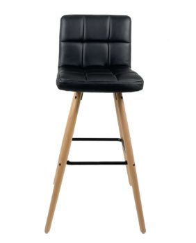 chaise-de-bar-scandinave-simili-cuir-noir-kayelles
