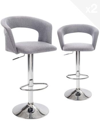 tabourets-Bar-cuisine-design-Lot-2-hauteur-reglable-tissu-rembourree-accoudoirs-dossier-ergonomique-kayelles