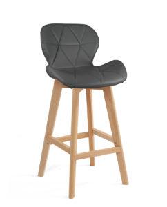 chaise-haute-design-scandinave-gris-kayelles