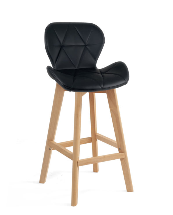 chaise-haute-design-scandinave-noir-kayelles