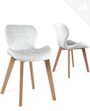 chaise-scandinave-design-lot-4-blanc-fati
