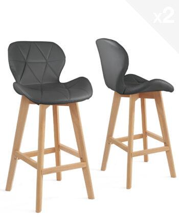 lot-2-chaises-hautes-scandinave-gris-kayelles